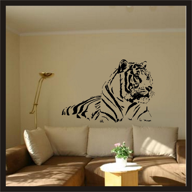 wandtattoo tiger xxl eur 13 90 picclick de. Black Bedroom Furniture Sets. Home Design Ideas